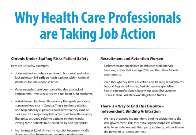 Why Health Care Professionals are Taking Job Action Thumbnail